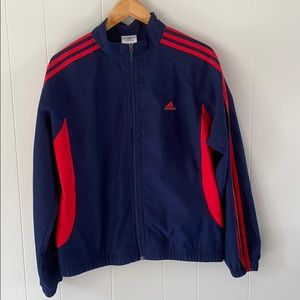 ADIDAS retro style blue and red track jacket XL